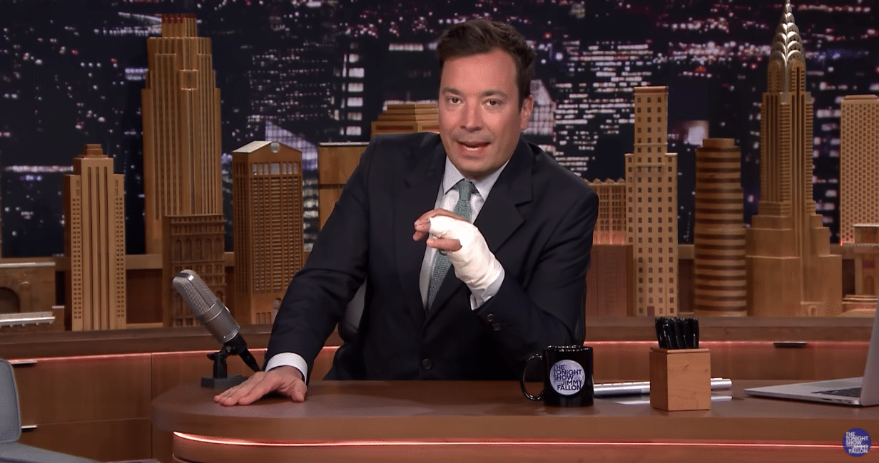 Jimmy Fallon hand injury with Dr. Reis